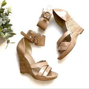 Stuart Weitzman Shoes - Stuart Weitzman Hilda Adobe Aniline Wedge Sandals